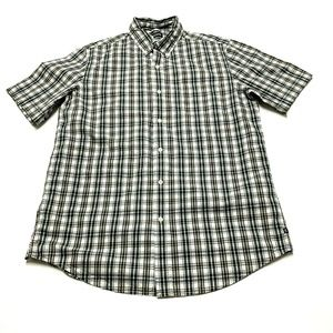Chaps Short Sleeve Button Down Plaid Shirt